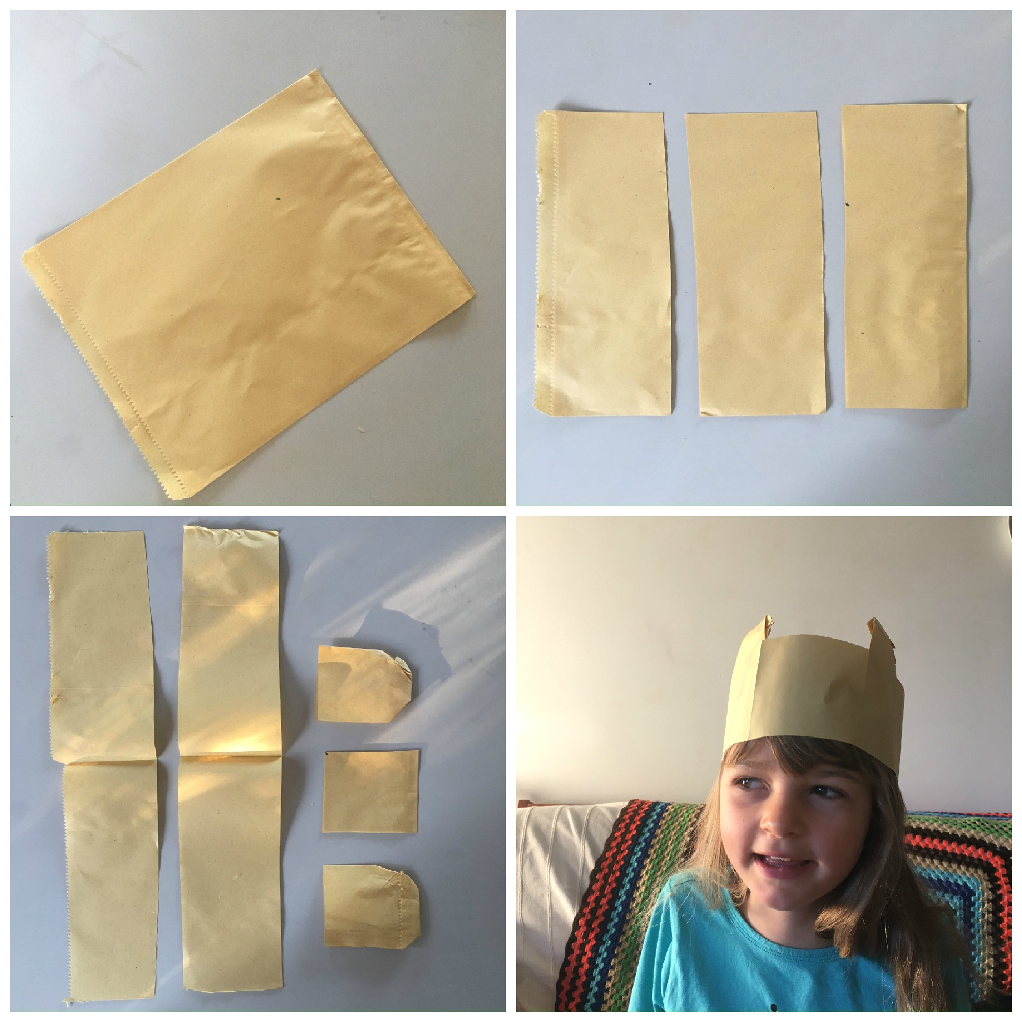 how to make a paper bag hat